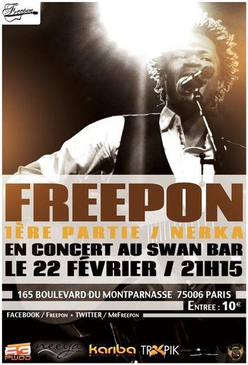 Concert freepon vendredi 22 fevrier 2013