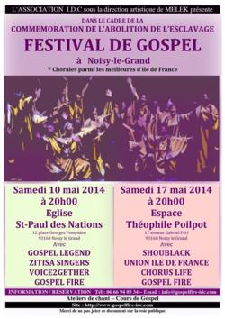 10 mai Festival de Gospel