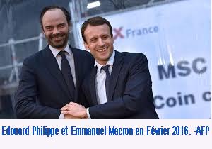 Edouard Philippe et Emmanuel Macron